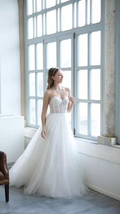 Wedding Dress Trends, New Wedding Dresses, Tulle Wedding, Wedding Suits, Designer Wedding Dresses, Bridesmaid Dresses, Trendy Wedding, Dream Wedding, Sexy Gown