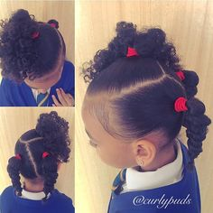 Each of these hair-styles will be fairly straight forward are a great option for novices, fast and simple toddler hair-styles. Lil Girl Hairstyles, Girls Natural Hairstyles, Natural Hairstyles For Kids, Kids Braided Hairstyles, Girl Haircuts, Diy Hairstyles, Natural Hair Styles, Black Hairstyles, Teenage Hairstyles