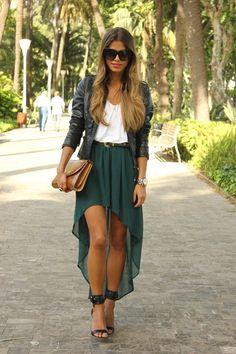 STREET STYLE FASHION | Fashion - Street Style - love the skirt