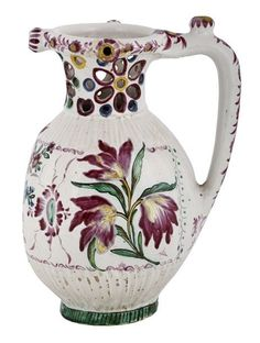 Džbán tzv. žertovný z kolekce vyškovské lidové keramiky, 1797. pichet trompeur - Vyskov, Moravie du Sud, anciennement Wischau