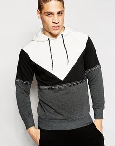 Image 1 of Antioch Hoodie With Taping Detail