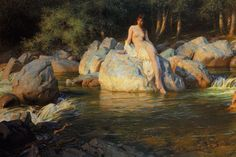 "art-is-art-is-art: ""The Kelpie, Herbert James Draper """