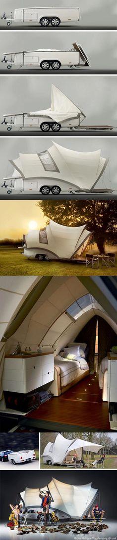 Ysin Opera Luxury folding caravan from Holland