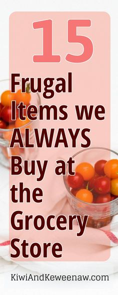 This is an amazing list of grocery items this family buys all the time to save money on groceries! They spend $225/month on groceries to feed their family of two! Ultimate shopping list to save money on groceries! KiwiAndKeweenaw.com