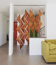 9 Well Tips: Folding Room Divider Paint portable room divider interior design.Portable Room Divider Small Spaces room divider on wheels diy.Room Divider On Wheels Shelves. Living Room Partition Design, Living Room Divider, Room Divider Walls, Room Partition Designs, Diy Room Divider, Room Divider Screen, Glass Partition, Partition Screen, Partition Ideas