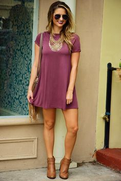 Day Trip Dress: Dusty Berry #shophopes