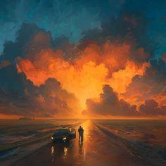 Artem Rhads Chebokha (better known as Rhads) is a digital artist and illustrator based in Saint-Petersburg, Russia. Rhads is a creative digital artist. Art And Illustration, Prints Instagram, Doodle Drawing, Heaven Art, Fantasy Kunst, Matte Painting, Fantasy Landscape, Anime Scenery, Environmental Art