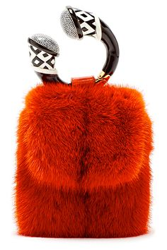 Tom Ford 2013 Fall Mink and Horn Clutch Leather Fanny Pack, Leather Bag, Leather Pants, Balenciaga Handbags, How To Make Purses, Fur Bag, Fur Accessories, Vintage Fur, Everyday Bag