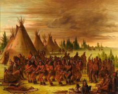 The Bear Dance (Sioux),1847, George Catlin