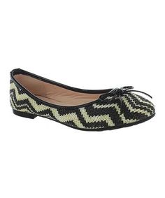 Take a look at this Black Zigzag Junior Flat by Pierre Dumas on #zulily today!