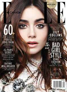 lily collins elle canada 01 Oh so pretty: Lilly Collins V Magazine, Fashion Magazine Cover, Fashion Cover, Lily Collins, Marie Claire, Vanity Fair, Magazin Covers, Girls Secrets, Cover Girl Makeup