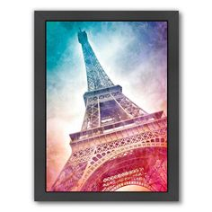 Americanflat Modern Art Paris Eiffel Tower Framed Wall Art, Multicolor
