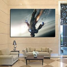 Ironman Falling Art Home Decor Painting - $ 13.95 ONLY!  Get yours here : https://www.thepopcentral.com/ironman-falling-art-home-decor-painting/  Tag a friend who needs this!  Free worldwide shipping!  45 Days money back guarantee  Guaranteed Safe and secure check out    Exclusively available at The Pop Central    www.thepopcentral.com    #thepopcentral #thepopcentralstore #popculture #trendingmovies #trendingshows #moviemerchandise #tvshowmerchandise