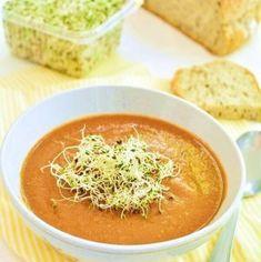 7 reţete de supe cremă delicioase şi pline de vitamine | Bucate Aromate Vegetarian Recipes, Cooking Recipes, Yummy Food, Tasty, I Feel Good, Thai Red Curry, Seafood, Bacon, Food And Drink