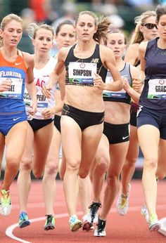EUGENE, OR - JUNE 28: Jenny Simpson competes in the preliminaries of the Women's 1500 Meter on day seven of the 2012 U.S. Olympic Track and Field Team Trials at Hayward Field on June 28, 2012 in ...