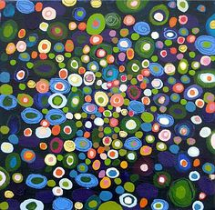 Georgia Gray   this reminds me of the city at night, full of light and color