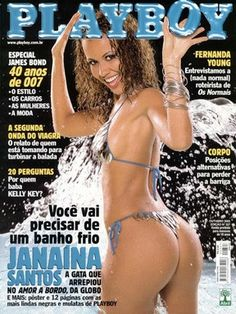Playboy Brazil October 2002 Cover featured by Janaína Santos