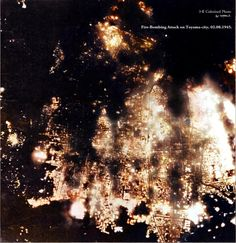 B-29 fire-bombing attack on Toyama-city, Japan. Feb, 08, 1945. Historical Times