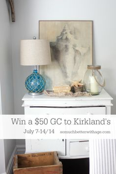 win a $50 gift card to Kirkland's via somuchbetterwithage.com