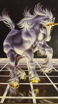 Ha! I totally had this print. I can't remember if I had the poster of it or just the Trapper Keeper. 1980's Framed Unicorn Wall Art / Unicorn by GroovyDoozyVintage