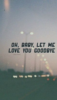 Love You Goodbye- One Direction