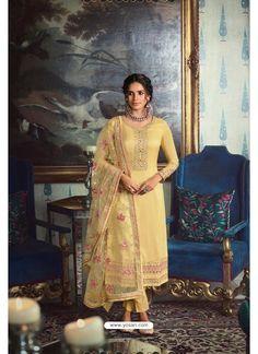 Yellow Pure Tussar Silk Partywear Designer Suit Designer Salwar Suits, Patiala Salwar, Saree Look, Yellow Fabric, Indian Ethnic Wear, Suits For Women, Dress Making, Party Wear