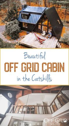 Charming Off Grid A-Frame-Kabine in den Catskills - Off Grid World # aframe A Frame House Plans, Cabin House Plans, Barn Style House Plans, Small Cabin Plans, Small Cabins, Off Grid House, Off Grid Cabin, Off The Grid Homes, Tyni House