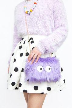 » DIY Colorful Faux Fur Clutches
