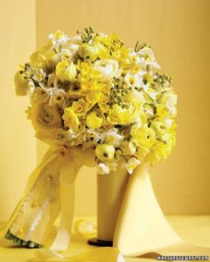 "See the ""Sunny Bouquet"" in our Yellow Wedding Bouquets gallery"