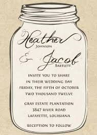 mason jar wedding invitations - Google Search