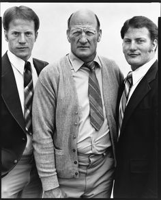 Lyal Burr, coal miner, and his sons Kerry and Phillip, The Church of Jesus Christ of Latter-Day Saints, Koosharem, Utah, May 7, 1981