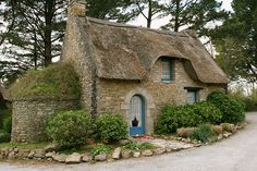 I just love everything about this small stone cottage