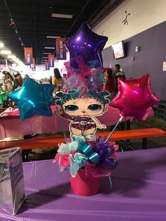 LOL Surprise Doll Cosmic Queen Table Centerpiece 13th Birthday Parties, Surprise Birthday, 7th Birthday, Party Themes, Party Ideas, Bee Party, Birthday Centerpieces, Doll Party, Bday Girl