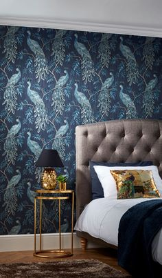 This Peacock Lazzaro 10cm x 53cm 3D Embossed Wallpaper Roll shows gorgeous peacocks finished with a subtle metallic shimmer. This fashionable design will surely make a statement in any room.