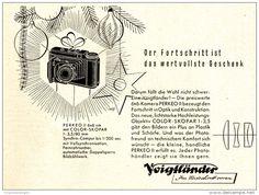 Original-Werbung/Anzeige 1951 - VOIGTLÄNDER PERKEO II KAMERA - ca. 120 X 100 mm
