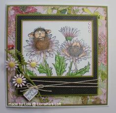 Handmade card using House Mouse stamp