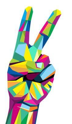 Pop Art Dibujos Animales 25 Ideas For 2019 Peace Sign Art, Peace Signs, Cubism Art, Modern Pop Art, Pop Art Portraits, Arte Pop, Geometric Art, Graphic, Lovers Art