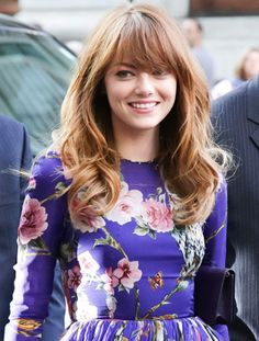 Get Emma Stone's Boho Bangs—and Copy Her Effortless Blow-Out