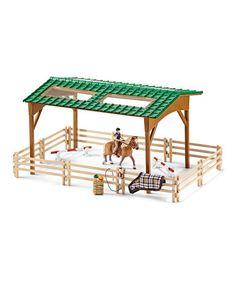 Love this Riding Arena Figurine Set on #zulily! #zulilyfinds
