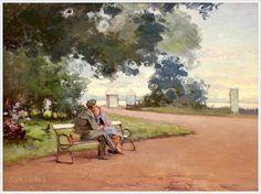 Леви Василий Филиппович (Россия,  1878‑1954) «Свидание в парке»