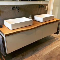 Badmöbel Für Aufsatzwaschbecken stand badmöbel mit zwei schubladen und griffmulde auf metallfüßen in