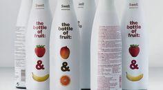 The bottle of fruit