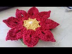 Passo a Passo da Flor Tais - Thais - em Crochê com Cristina Coelho Alves - YouTube