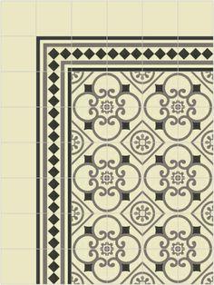 zementfliesen Ref 273 mit Bordüre 405 Mosaico
