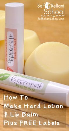 We show you how to make hard lotion from beeswax, coconut oil and shea butter. #beselfreliant (Shea Butter Deodorant)