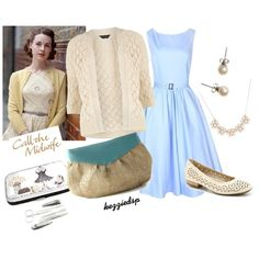 Call the Midwife inspiration (One of the Best British TV shows Ever!) Love this lady-like and classic outfit. Perfect for a nice night out!