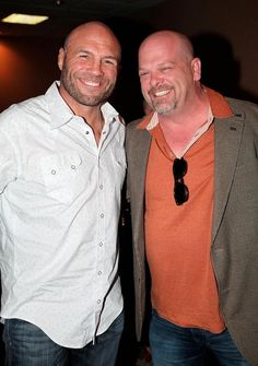 """On Sunday, Feb. 2, actor Randy Couture and reality stars Horny Mike from """"Counting Cars,"""" Rick Harrison from """"Pawn Stars"""" and NBC's """"The Voice"""" contestant Michael Austin, enjoyed a VIP """"Big Game"""" viewing party at the D Las Vegas Casino Hotel (Photo credit: Tony Cordell)."""
