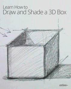 How to Draw and Shade a 3D Box-- Great tutorial
