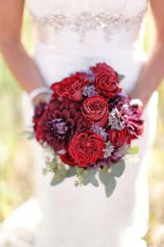 Red and deep purple bouquet