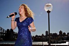 A singer performing at the Sydney Opera House. #spotlightonstars